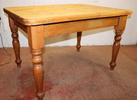 1920s Small Country Pine Table on Turned Legs (3 of 4)