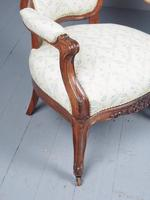 Antique Pair of French Rosewood Armchairs (18 of 19)