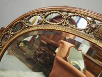 Gilded Walnut Oval Overmantel Mirror (5 of 11)
