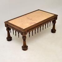 Antique Carved Marble Top Coffee Table (2 of 14)