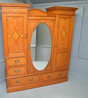 Stunning Victorian Satinwood & Marquetry Compactum Wardrobe (17 of 24)