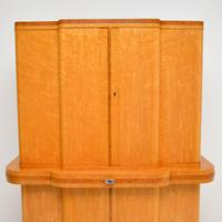 Art Deco 1920's Burr Maple & Walnut Cocktail Cabinet (4 of 13)