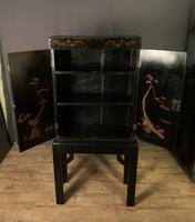 Decorative Chinoiseries Lacquer Work Cabinet on Stand (6 of 12)