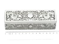 Chinese Export Silver Box - Antique c.1900 (9 of 9)
