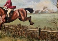 'The Fox Hunt' Original Vintage Country Sporting Pursuit Oil on Canvas Painting (11 of 17)