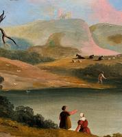 Large Stunning 19thc Arcadian Landscape Oil Painting in the 18th Century manner (7 of 13)
