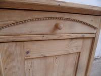 Victorian Large Beeded Antique Pine 2 Door Dresser Base to wax / paint (8 of 10)
