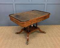 Fine Regency Inlaid Mahogany Library Table