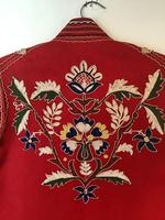 Very Unusual Vintage Felt Coat  Decorated with Embroidery Possibly Turkish or Greek (7 of 7)