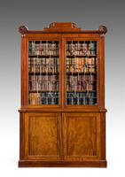 Regency Period Mahogany Two Door Bookcase (6 of 6)