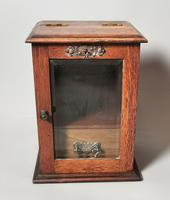 Antique Victorian Oak Smokers Cabinet (3 of 12)