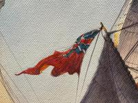 "Seascape Oil Painting Naval Frigate Ships Napoleonic War Sea ""Battle Trafalgar"" (13 of 25)"