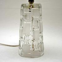 1960's Pair of Vintage Glass Table Lamps (5 of 8)