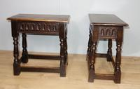 Pair of Edwardian Oak Joint Stools (2 of 6)