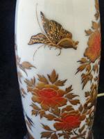 Excellent Japanese Meiji Period Lacquer on Porcelain Vase- Converted to a Lamp (4 of 7)