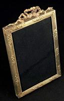 Small Edwardian Gilt Brass Easel Photo Frame