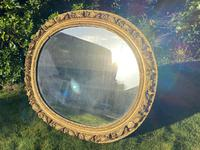 Early 18th Century Carved Giltwood Oval Mirror (3 of 6)