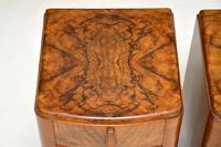 Pair of Art Deco Figured  Walnut Bedside Cabinets (6 of 10)