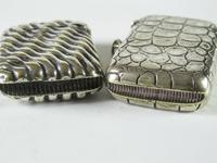 Two Edwardian Plated Vesta Cases (3 of 4)