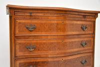 Antique Georgian Style Burr Walnut Chest of Drawers (7 of 10)