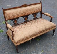 1920s Elegant 3 Seater Mahogany Sofa with Inlay Detailing