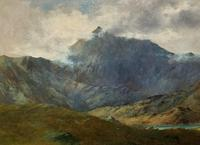 (2of2) Huge Magnificent 19thc Snowdonia Mountain Welsh Landscape Oil Painting (10 of 13)
