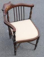 1900's Mahogany Corner Chair with Inlay (3 of 4)