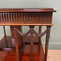 Sheraton Design Edwardian Mahogany Antique Revolving Bookcase (6 of 6)