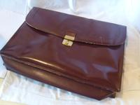 Vintage Omega Watches Official Document Wallet 1970s Large Burgundy Leatherette (2 of 6)