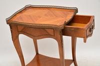 Antique French King Wood Side Table (5 of 9)