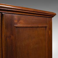 Antique Side Cabinet, English, Walnut, Drinks Cupboard, Bookcase, Edwardian (9 of 10)