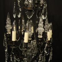 French Bronze & Crystal 8 Light Cage Chandelier (2 of 10)