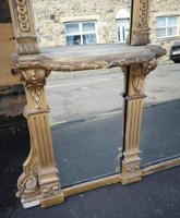 Large Impressive 19th Century Gilt Overmantle Mirror by C Nossotti (16 of 16)