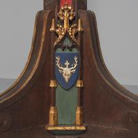 Pair of Gothic Revival Oak Standard Lamps (3 of 12)