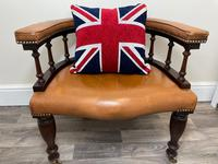 Charming Traditional Victorian Style Tan Brown Office Captains Bankers Chair (2 of 42)
