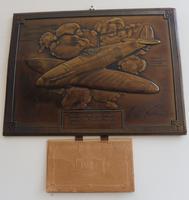 Bronzed Metal Calendar Signed Alex Henshaw MBE 1941 (13 of 13)