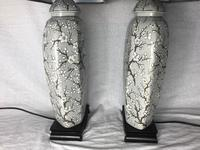Pair Chinese Cantonese Porcelain Table Lamps With Shades Lighting Christmas Gift (41 of 51)