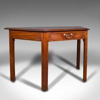 Antique Side Table, English, Writing Desk, Console, Window, Georgian c.1800
