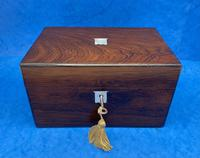 Victorian Rosewood Box with Mother of Pearl Inlay (2 of 11)