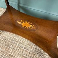 Elegant Edwardian Inlaid Mahogany Antique Side Table (5 of 6)