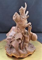 Thomas Wilkinson Wallis of Louth, Wood Carving with Snail and Ivy, 1867 Original Stand (10 of 11)