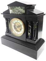 Antique French Slate & Green Marble Mantel Clock Striking 8-day (2 of 9)