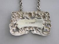 """George IV Antique Silver """"Singing Foxes"""" Wine Label 'port' by Charles Rawlings, London, 1827 (7 of 9)"""
