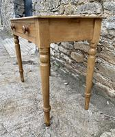Antique Pine Side Table with Drawer (6 of 14)