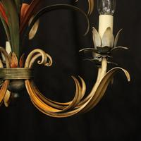 French Polychrome Toleware 5 Light Chandelier (5 of 10)