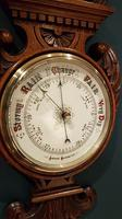 Superb Antique Polished Oak Banjo Barometer (6 of 6)