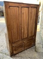 Antique Pine Panelled Box Settle (16 of 16)