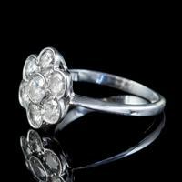 Antique Edwardian Diamond Daisy Cluster Ring Platinum 2ct of Diamond c 1910 (3 of 5)