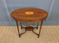 Fine Quality Oval Inlaid Mahogany Occasional Table