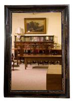 William & Mary Style Black & Gold Japanned Cushion Mirror (2 of 7)